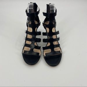 Nanette Lepore caged kitten heel black and clear